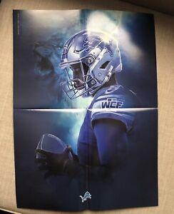Detroit Lions 2019 SGA Fold Out MATTHEW STAFFORD 16x20 Poster