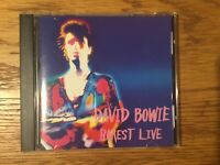 "David Bowie ""Rarest Live"" RARE ORIGINAL 1999 Japanese import CD withsome inserts"