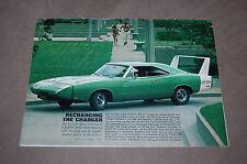 1969 Dodge Charger Daytona - Original Magazine Print Ad