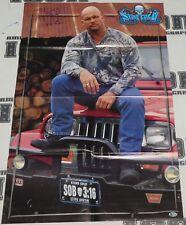 Stone Cold Steve Austin Signed 22x33 WWE Magazine Centerfold Poster BAS COA Auto