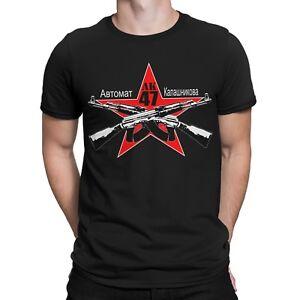AK 47 T-Shirt Russia Gangster Mafia Russen Fun Gamer Waffe Gun Waffen AK74 Game