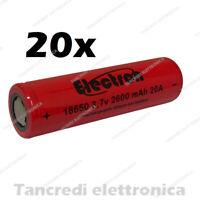 20x Batteria ricaricabile litio 18650 2600mah 20A 8C e-cig sigaretta elettronica