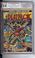 """ASTONISHING TALES  #25 PGX 8.0 SE  """"SIGNED BY RICH BUCKLER @ GEORGE PEREZ"""""""
