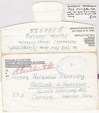 # 1946 GB POW CAMP 702 PETERBOROUGH KINGS CLIFFE LETTERSHEET TO GERMANY WW2