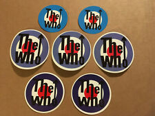 """Lot of (7) The Who 3"""" x 3"""" Band Logo Sticker Blue Red White Fast! Free Ship!"""
