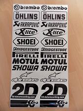 24 x Sponsoren Aufkleber Set 2x12 Stück - Motorrad-Auto - 16cm Breit - Sticker