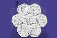 2019 Peter Pan 50p x FULL SET OF 6 COINS Isle of Man Uncirculated XMAS Coin HUNT