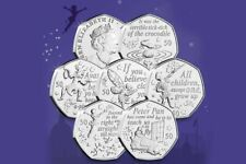 2019 Peter Pan 50p x FULL SET OF 6 COINS Isle of Man Uncirculated XMAS Coin HUNT