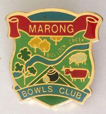 Marong Bowling Club Badge Pin Bullock Creek Vintage Lawn Bowls (L15)