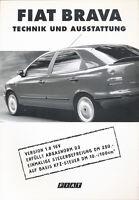 Fiat Brava Technik Ausstattung Autoprospekt 9/97 Prospekt brochure 1997 Auto Pkw