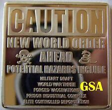 1 UNZE - NEW WORLD ORDER - BARREN - MEDAILLE -  SILBERBARREN
