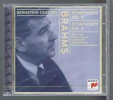 BERNSTEIN CD NEW BRAHMS SYMPHONIES Nos 2 & 3