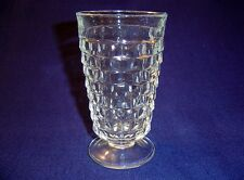 """INDIANA GLASS WHITEHALL AMERICAN CLEAR WATER GOBLET FTD 6"""" TALL CUBES TUMBLER"""