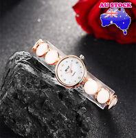 Watch Ladies Alloy White  With  Swarovski Diamond  Dial 18K Rose Gold