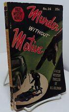 Murder Without Motive by R L Goldman - Prize Mystery Novel #16 - digest size