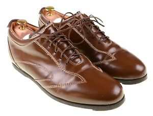 Brooks Brothers Handmade in ITALY Brown Leather Walking Casual Shoes 11