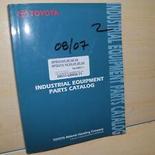 Toyota 8fgcu 8fgu Series Forklift Parts Manual Book Lift Truck Spare G851 1 Oem