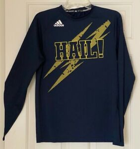 University of Michigan Wolverines HAIL Mich Adidas Long-Sleeve Climalite Shirt S