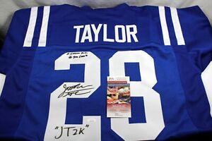 JONATHAN TAYLOR Signed Custom Colts Blue Jersey JSA Witness COA w Inscriptions