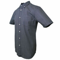 Obey Men's Gray & Indigo S/S Woven Shirt (Retail $80)