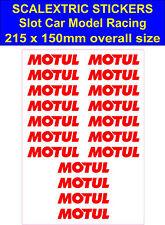 Slot CAR SCALEXTRIC Adesivo Modello Da Corsa Motul logo LEGO Decalcomania Vinile Autoadesivo
