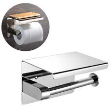 Wall Mounted Bathroom Toilet Paper Holder Tissue Shelf Rack Stainless Steel