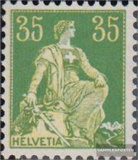 Schweiz 105x gestempelt 1908 sitzende Helvetia
