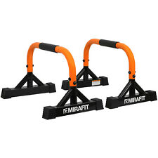 Mirafit Mini Parallettes Push Up Gymnastics/Calisthenics Low Parallel Dip Bars