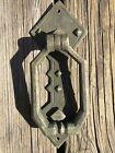 Craftsman Antique Vintage Door Knocker Drop Pull Handle Back Plate Mission style