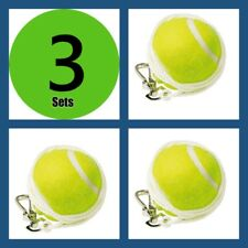 3 Sets Outdoor Sports Totem Tennis Spare Replacement Ball Nylon Cord Swivel Kit