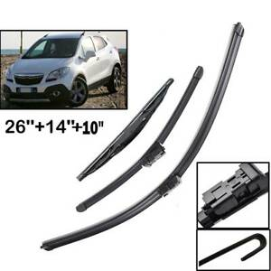 "26""14""10"" Front Rear Wiper Blades Set For Chevrolet Trax Tracker 2012 - 2020 19"