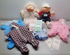 2 Vintage Cabbage Patch Preemies Boy & Girl with Original Outfits & Adopt Papers