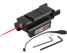 Compact Pistol LED Flashlight w/ Low Profile Red Laser Sight for Glock Ruger