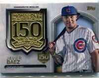 2019 Topps Series 2 Baseball 150th Anniversary Medallion Javier Baez 071/150 SP
