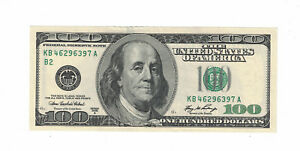 "US Banknote $100 Dollars Bill 2006-A "" B-2 New York "" XF+. (#1550)"