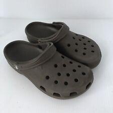 CROCS Classic Unisex Clogs Slip On Brown Shoes Mules Sz 10 Womens / Sz 8 Mens