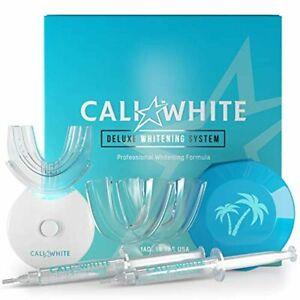 Cali White Vegan Teeth WHITENING KIT with LED Light, Made in USA, Natural & Orga