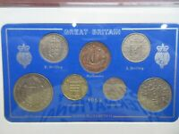 UK 1959 QUEEN ELIZABETH II 7 COIN SET IN CLEAR CASE ROYAL MINT BOOK OPTIONAL