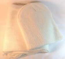 Womens Fashion Scarf Hat Knitted Set White