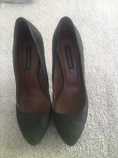 Zara Black Platform High Heels Size 5