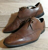Men's CLARKS Size 10.5 UK Brown Leather Lace Up Formal Smart Dress Shoes Derby