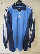 Maillot goal ADIDAS bleu shirt trikot maglia camiseta gardien de but L
