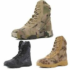Mens Camo Combat Ankle Boots Army Tactical Lace Up Outdoor Military Desert Shoe
