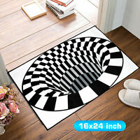3D Bottomless Hole Optical Illusion Area Rug Carpet Floor Mat Home Room Living