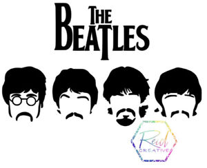 The Beatles silhouette Decal. Sticker For Car, Wall, Laptop, Ipad, Water Bottle