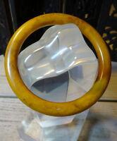 un art déco testée sculpté Caramel ambre bakélite bracelet