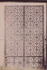 Grille à Rouen Fer forgé France Vintage Albumine ca 1880