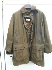 Mens barbour border wax jacket C44