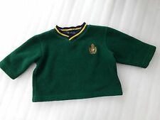 Boys Ralph Lauren Hunter Green Crest Crown Polo Fleece Pullover Shirt Size 6-12M