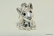 New/Tags Authentic Pandora Silver Charm Bull Terrier Puppy Dangle #798010En16